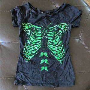Butterfly skeleton shirt
